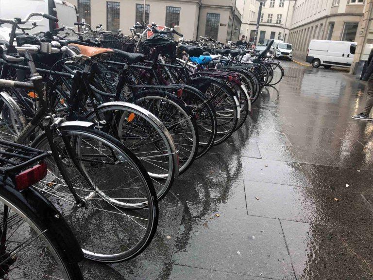 Polkupyörät Kööpenhamina Interrail Tanska