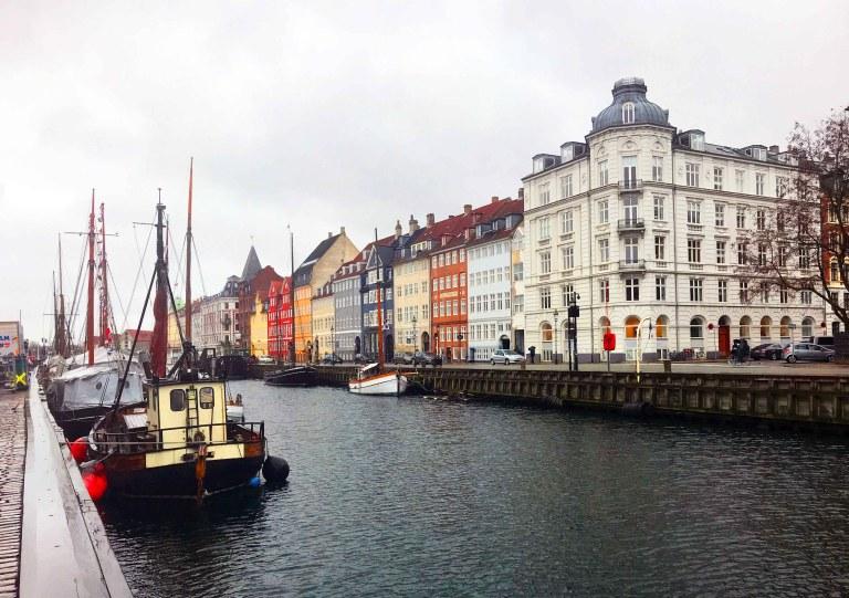 Kööpenhamina Nyhavn satama Interrail Tanska