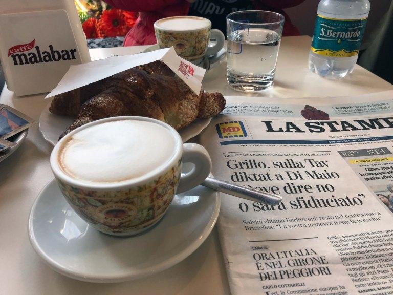 1 sanomalehti italia Interrail Junalla Italiaan Maata pitkin matkailu blogi matkablogi