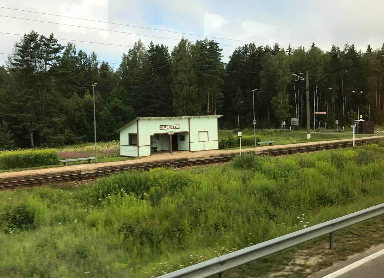 Hetkeen pysähtynyt blogi Interrail Italiaan Bussilla Berliiniin pikkuasema Latvia Rautatie