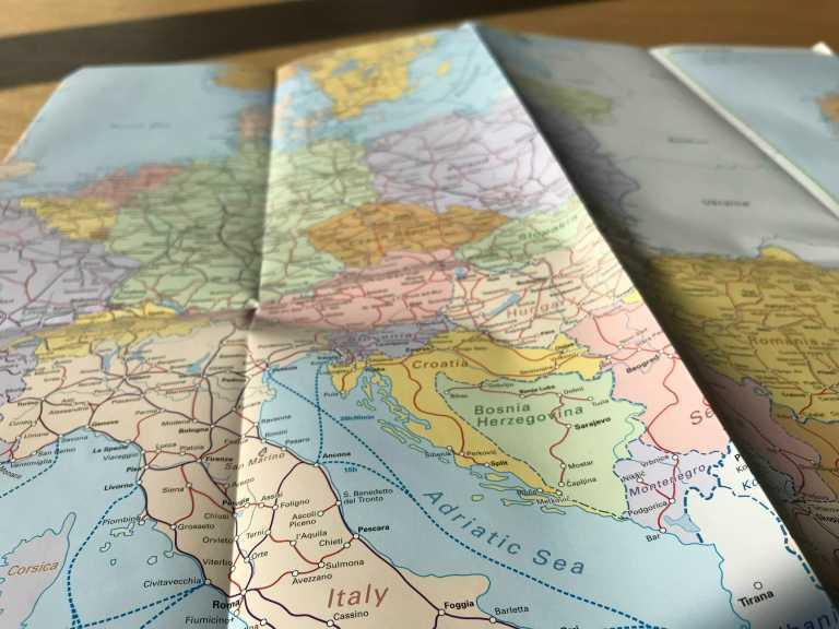 Hetkeen pysähtynyt Interrail Italiaan Kartta